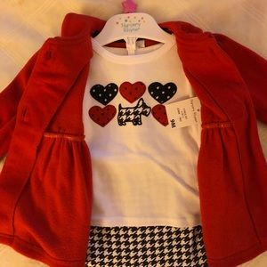 Nursery Rhythm Red Dog Outfit with Jacket